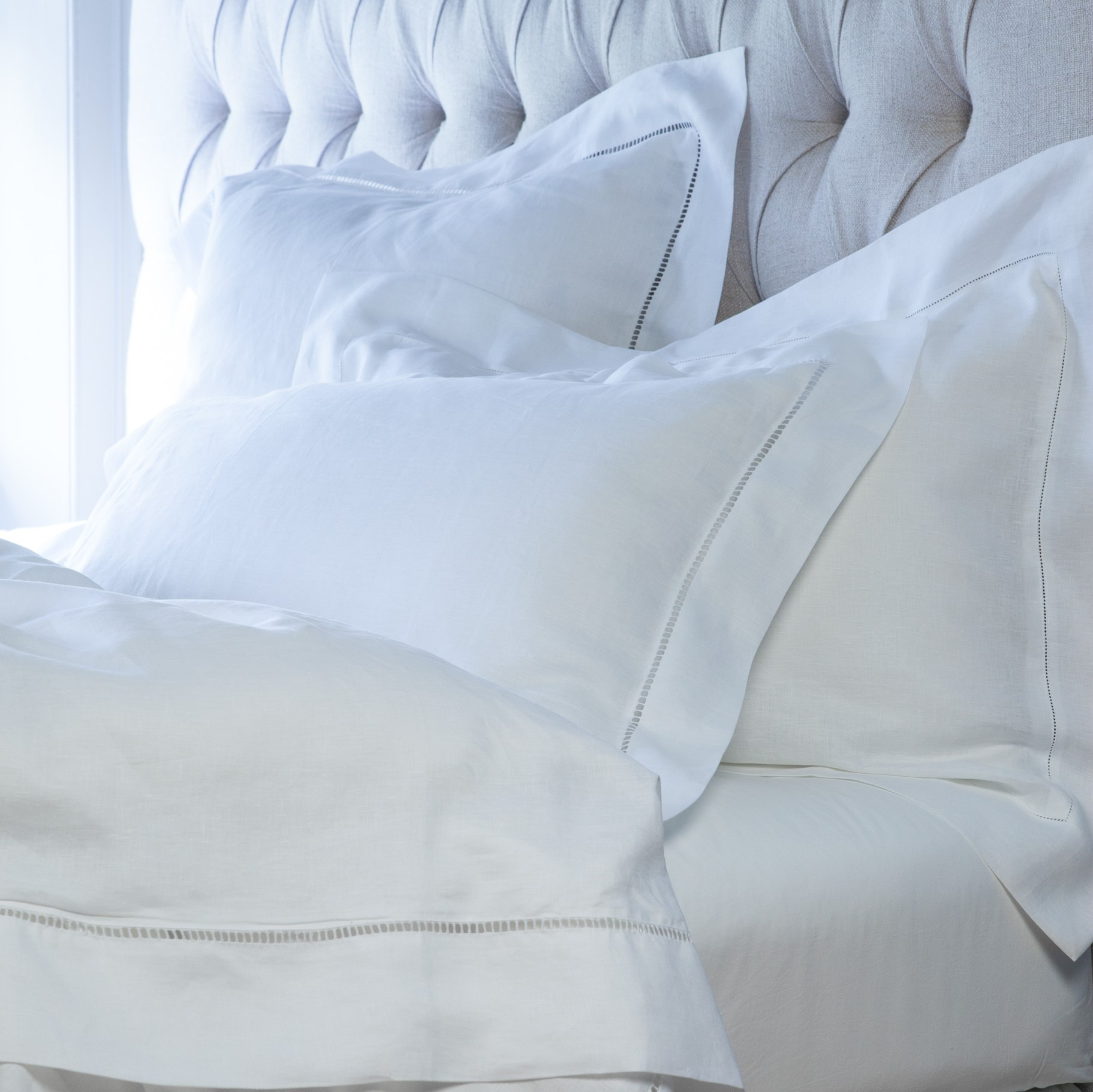 Life style Cavendish bed linen white