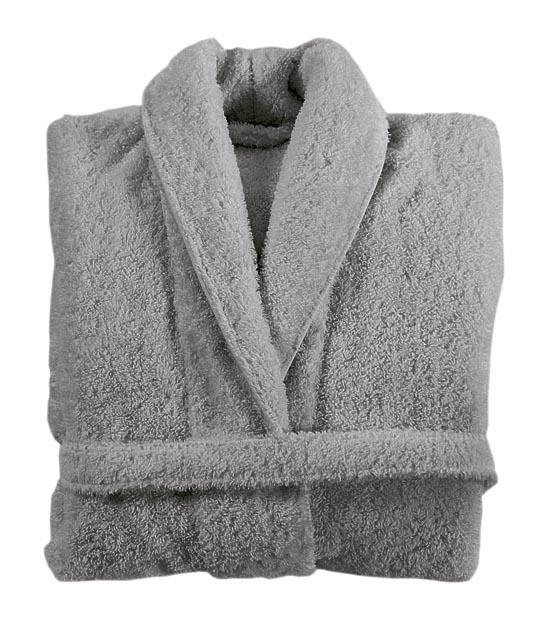 shawl collar robe Anthracite