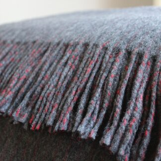 Pinstripe lambswool throw