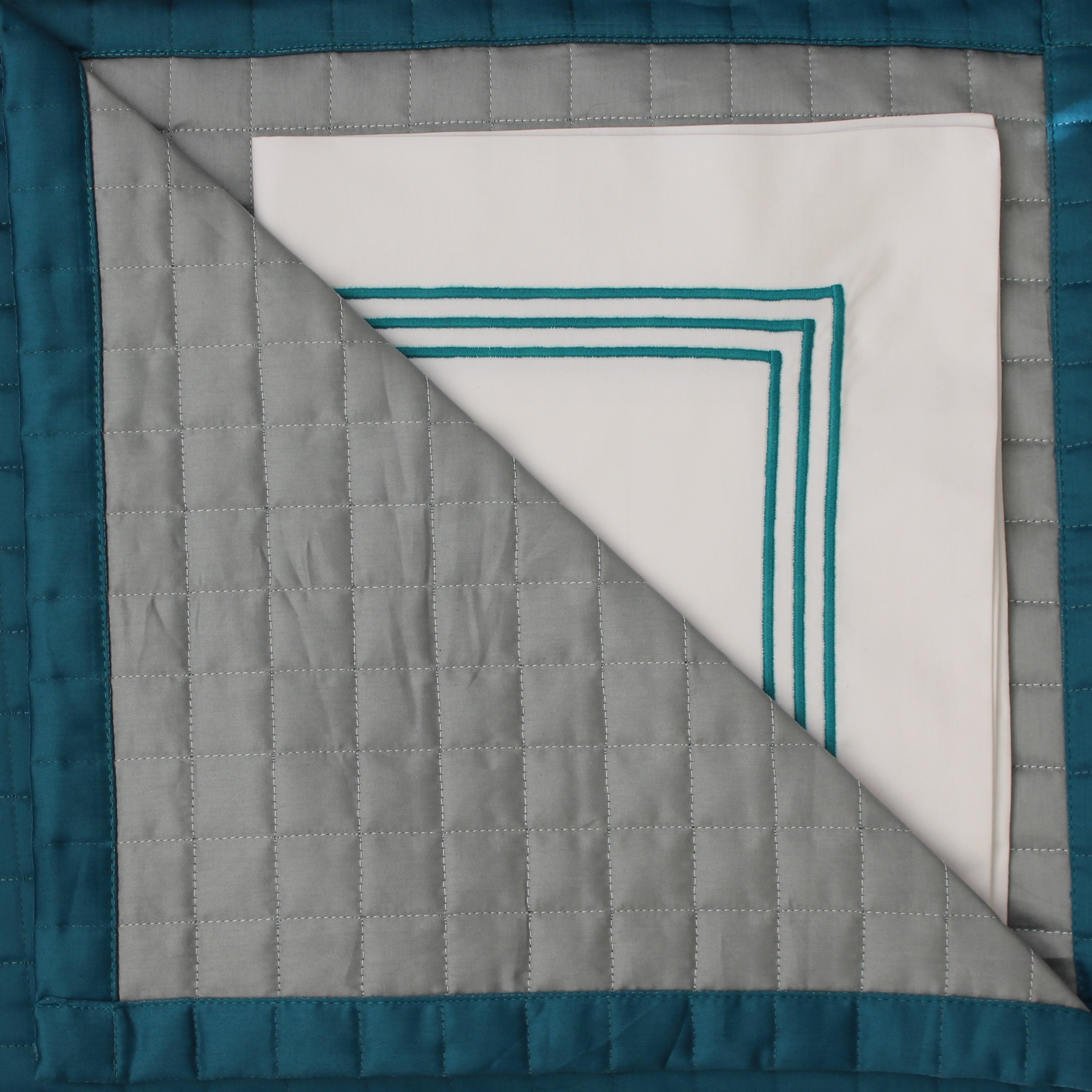 Venice Bedspread Teal & Lagoon with Teal Palazzo