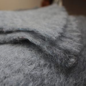 Twig Mohair throw blue fjord