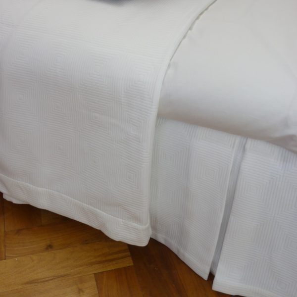 Berlin Mercerised Cotton Bedspread - White