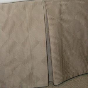 Berlin Mercerised Cotton Valance Panels - Taupe