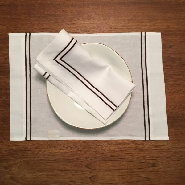 Stockholm Placemat chocolate