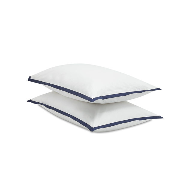 wallace navy pillowcase