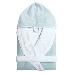 Double Tone Hooded Robe Baltic