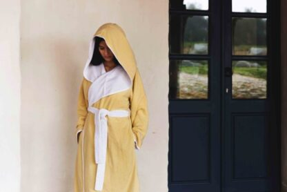 DOUBLE TONE HOODED MUSTARD