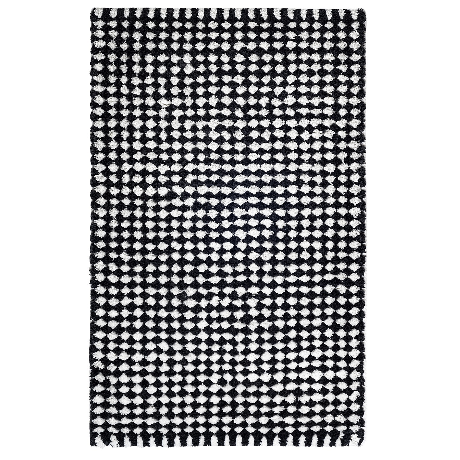 London Black & white Bath Rug