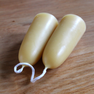 Hand Dipped Pure UK Beeswax Stumpie Candles